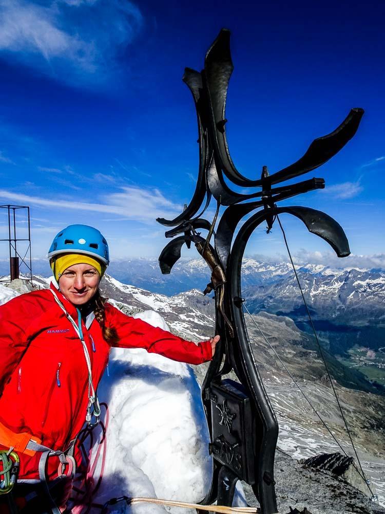 Am Gipfelkreuz angekommen :)