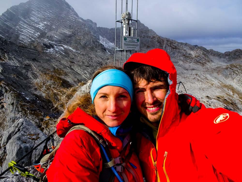 1. Gipfel des Tages - Westl. Mitterspitze