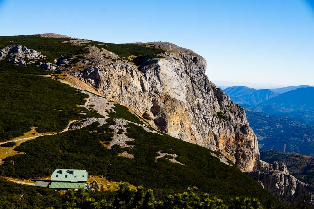 Blick Richtung Preinerwand mit Seehütte