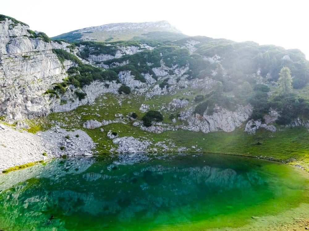 Kleiner Bergsee unter dem Seekopf auf ca. 1800m