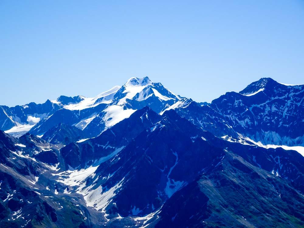Die Wildspitze am Übergang zum Ötztal (Venter Tal).