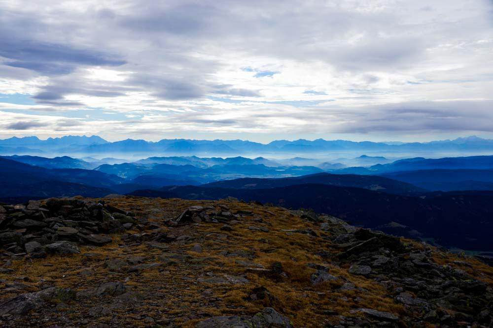 Am Gipfel des Zirbitzkogels.