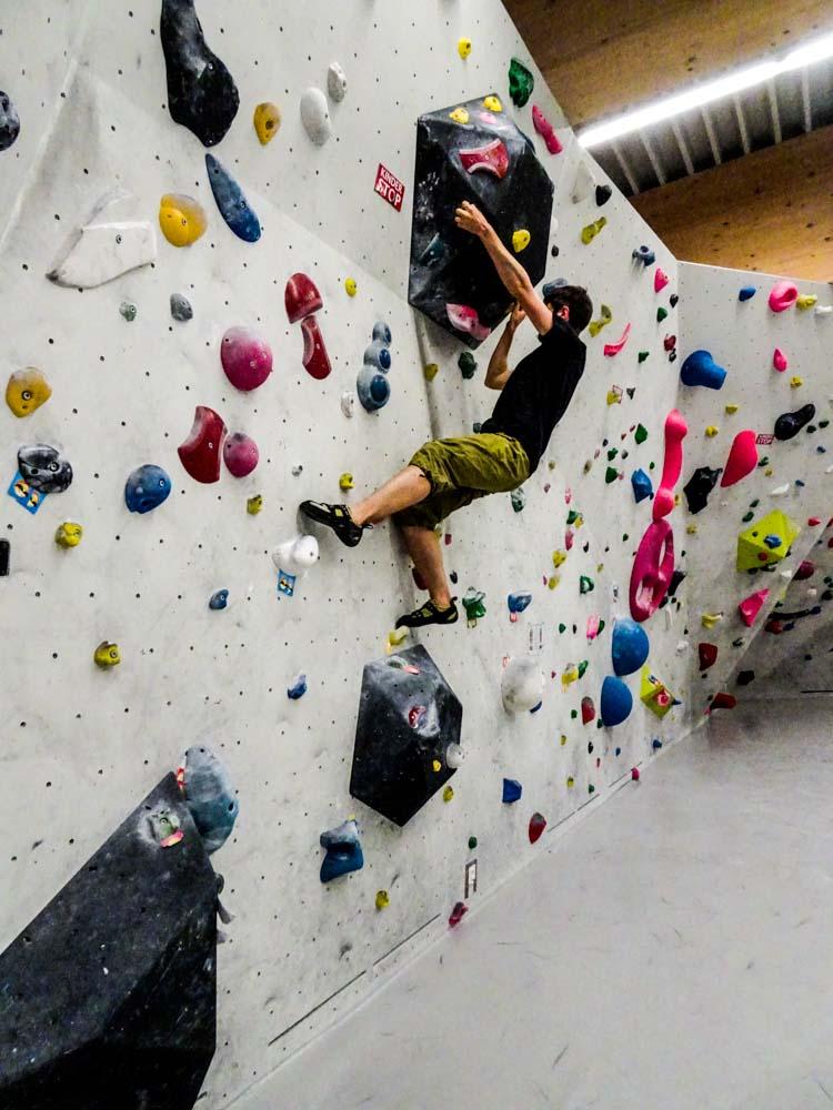 Und ein paar Impressionen vom Bouldern...