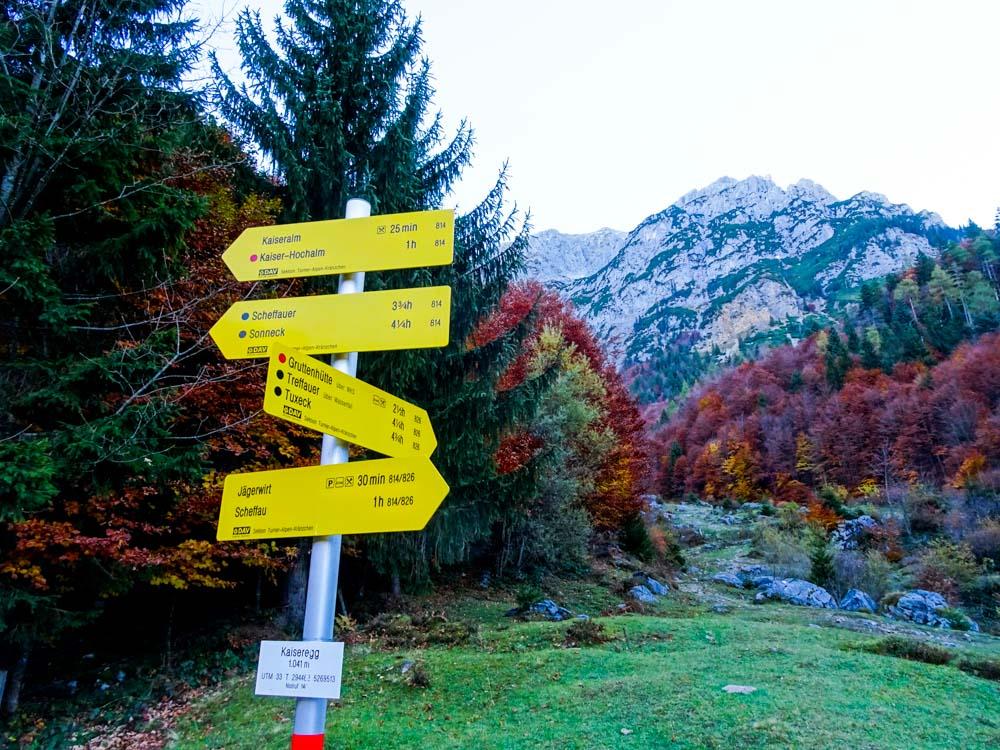 Aufstieg Richtung Treffauer