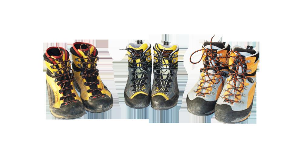 Schuhe zum Bergsteigen