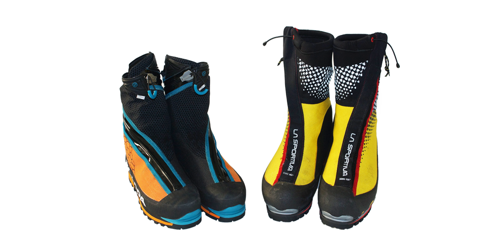 Schuhe zum Eisklettern und für Hochtouren über 4000m