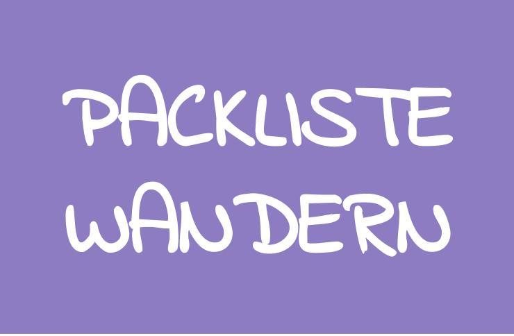 Rucksackpackliste Wandern