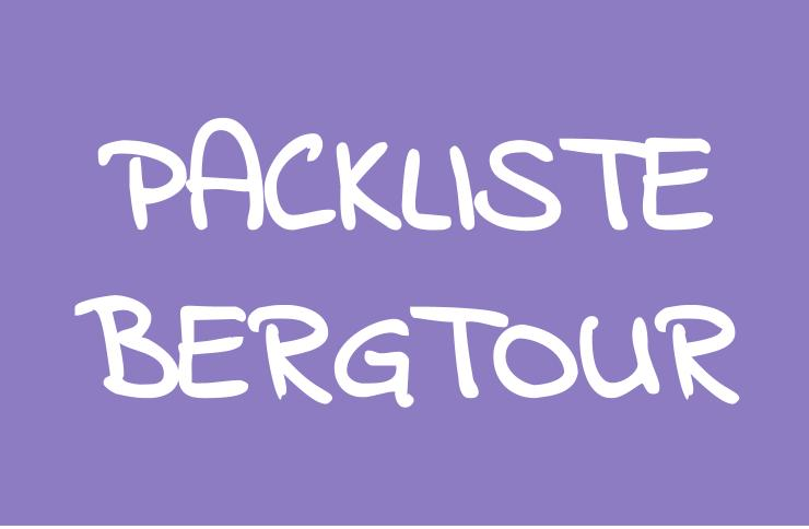 Rucksackpackliste Bergtouren