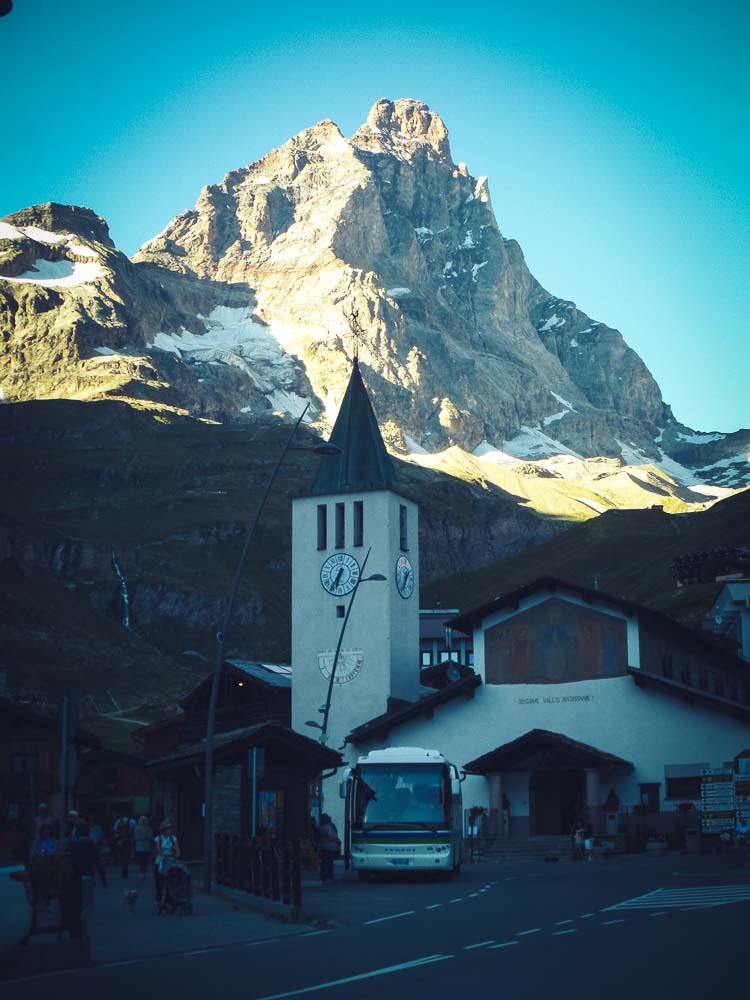 Breuil Cervini - die italienische Seite des Matterhorns.