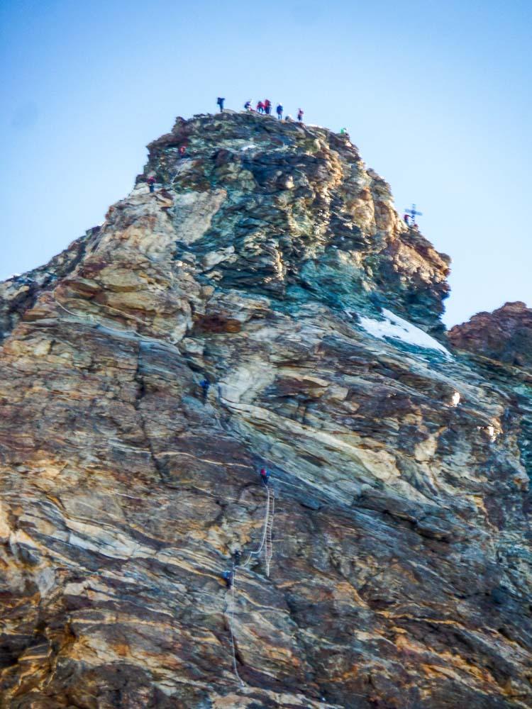 Man sieht schon den letzten Weg zum Gipfel.