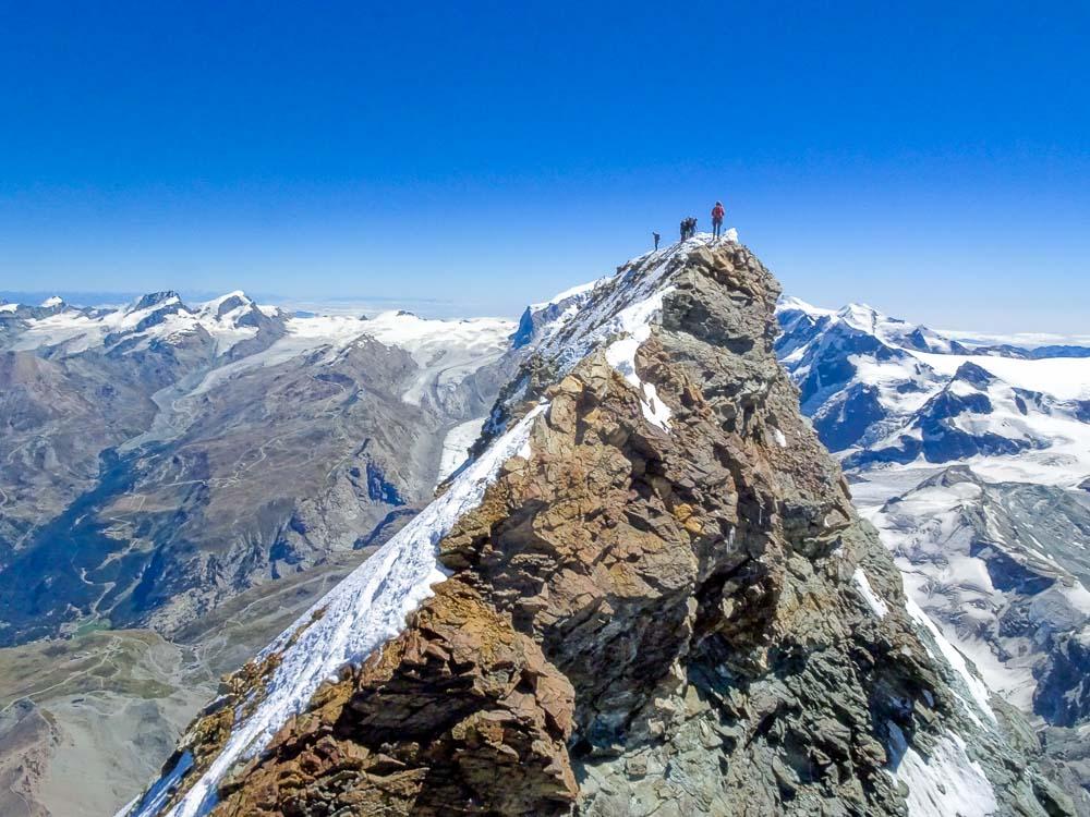 Gipfelgrat zum Schweizer Gipfel.