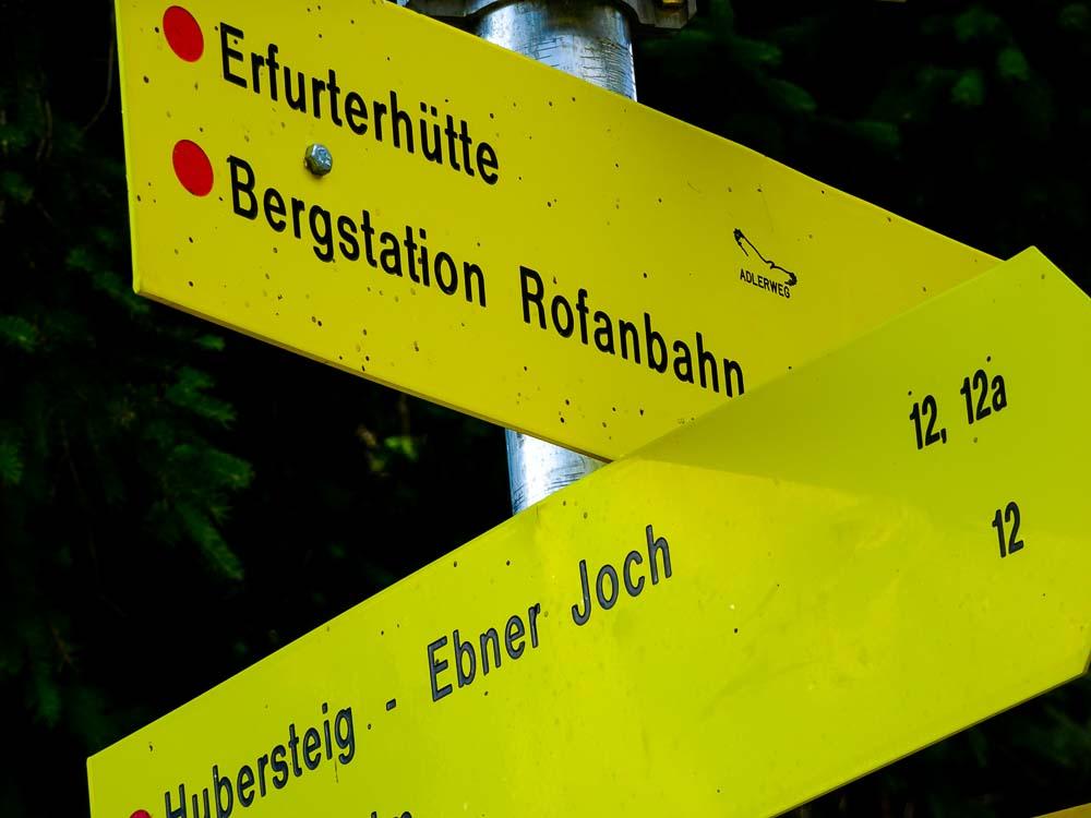 Immer Richtung Erfurterhütte.