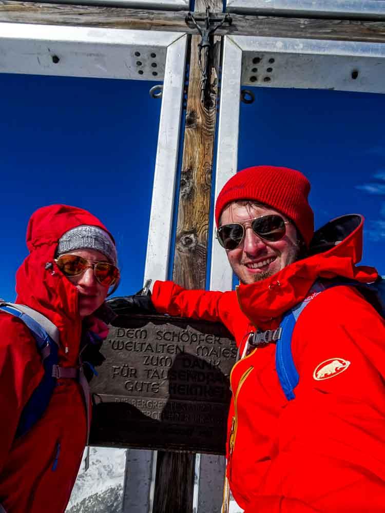Das Gipfelkreuz vom Großvenediger!