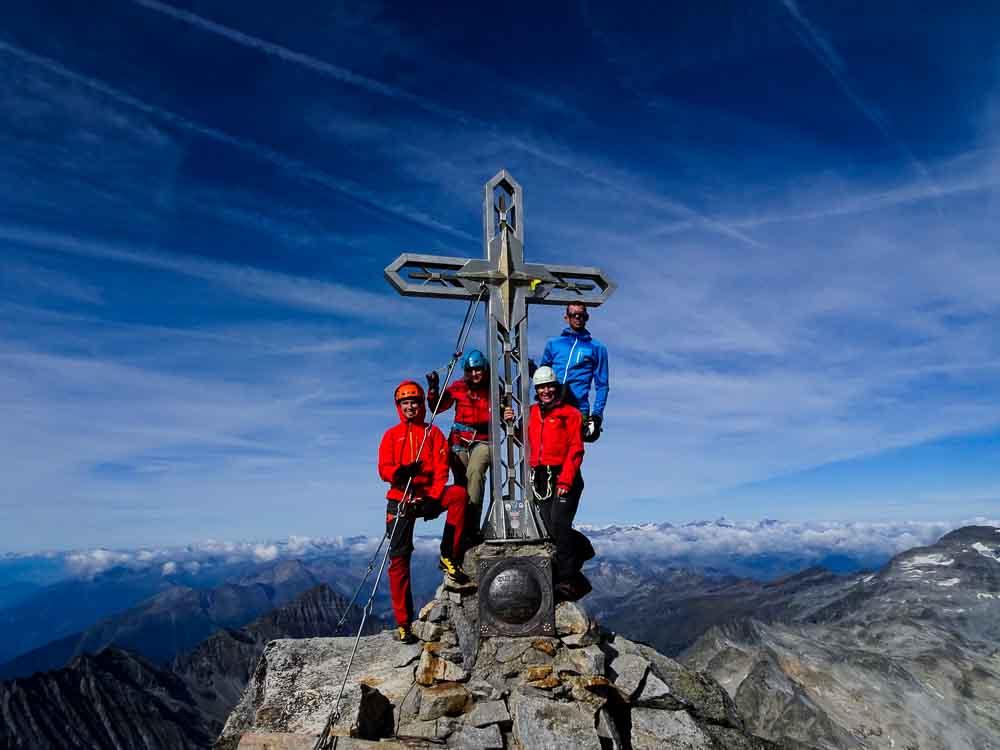 Hochtour auf die Hochalmspitze Rudolstädter Weg mit Abstieg Detmolder Grat Klettersteig (Kärnten)