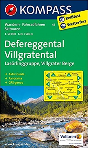 Karte Defereggental Villgratental 1:50.000