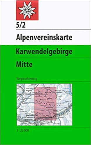 Karte Karwendelgebirge Mitte