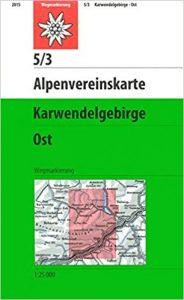 Karte Karwendelgebirge Ost