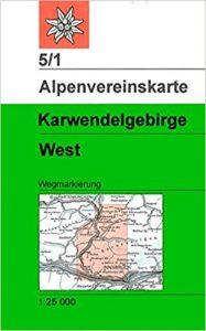 Karte Karwendelgebirge West