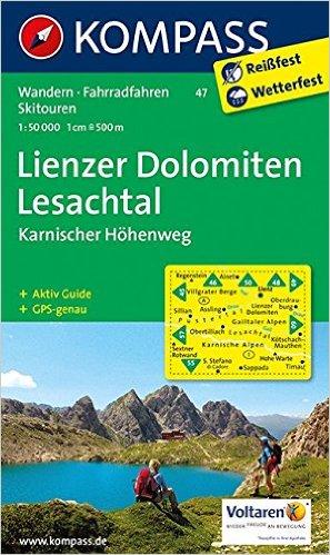 Karte Lienzer Dolomiten Lesachtal