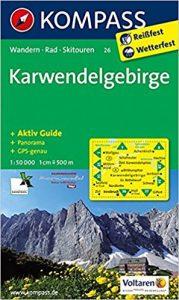 Karte Karwendelgebirge mit Aktiv Guide