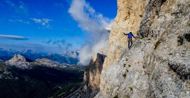 Klettersteig Ferrata : Klettersteig in der mauvoisin schlucht
