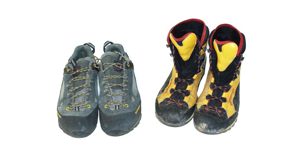 Schuhe für Klettersteige