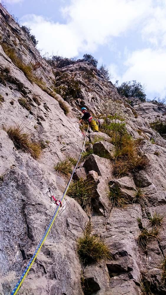 Sehr feine Kletterei in leichtem Schwierigkeitsgrad