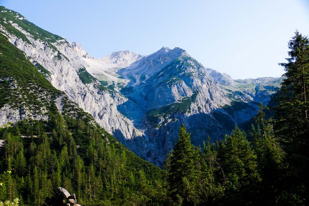 Ein letzter Blick auf das Gebirge