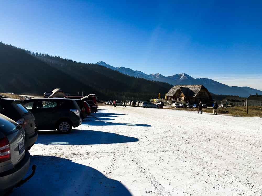 Parkplatz Kaiserau bei den Skiliften