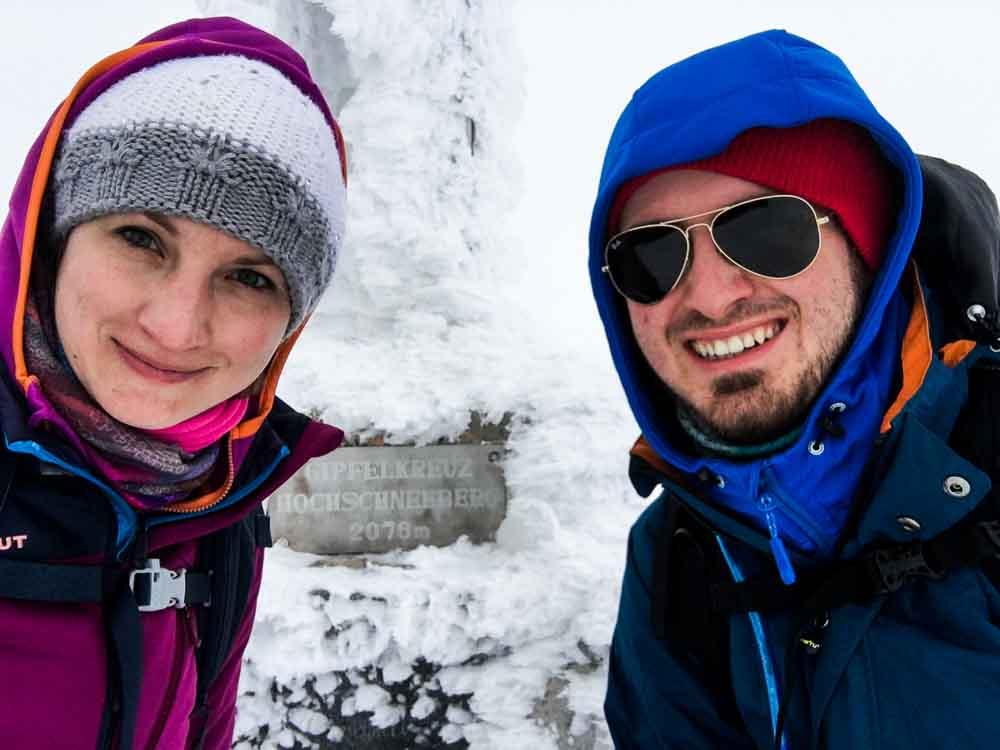 Winterbergtour auf den Hochschneeberg über den Fadensteig (Niederösterreich)