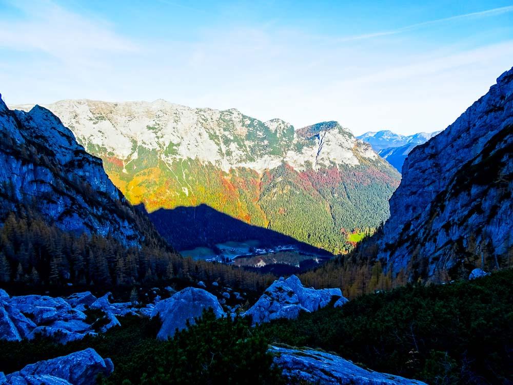 Wunderschöne Herbstlandschaft von der Blaueishütte.