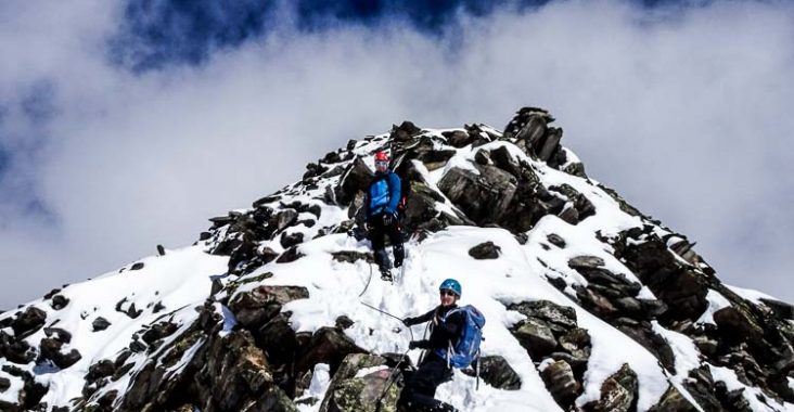 Kletterausrüstung Zillertal : Schwere bergtour auf das schönbichler horn tirol zillertal you