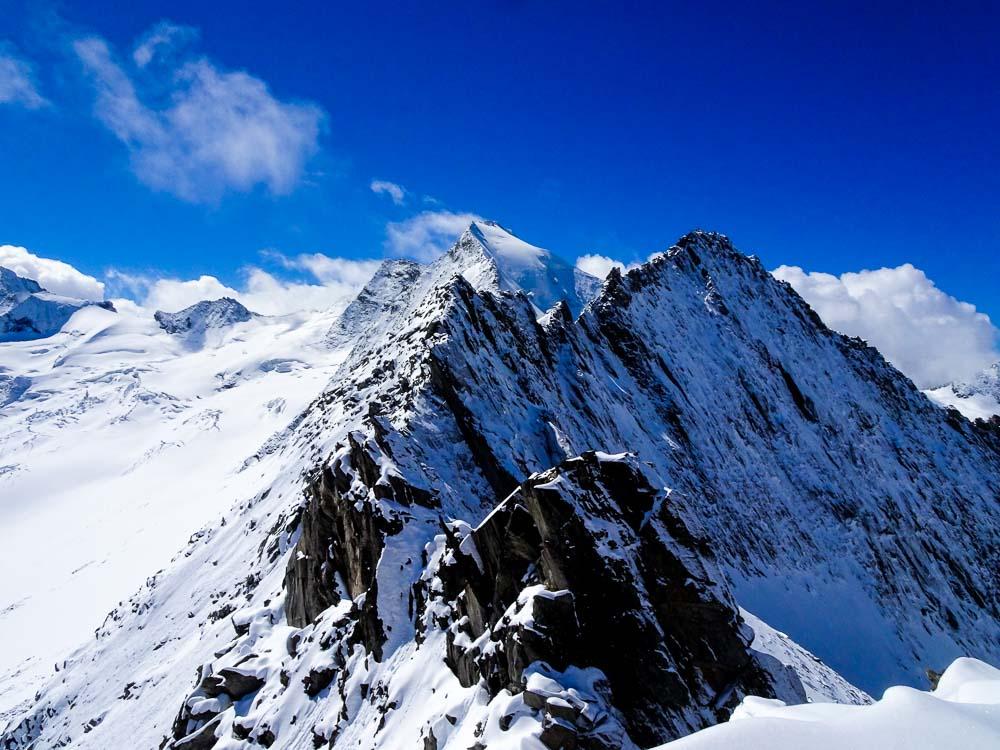 Der Grat Richtung Furtschaglspitze - was für Mutige.