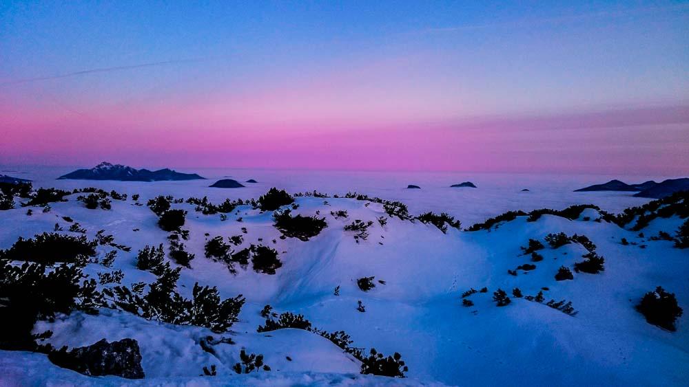 Sonnenuntergang und Morgenrot - unbeschreiblich!
