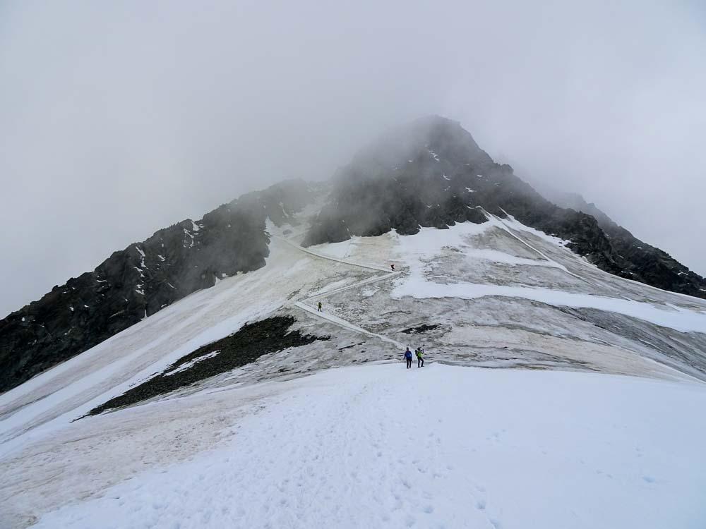 Abstieg über das steile Glocknerleitl.