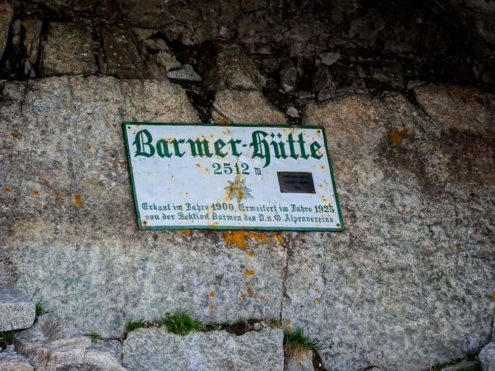 Der Standort der alten Barmer Hütte.