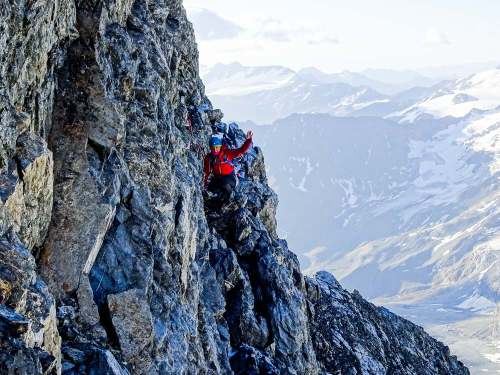 So sieht das ganze beim Klettern aus, ist aber recht einfach.