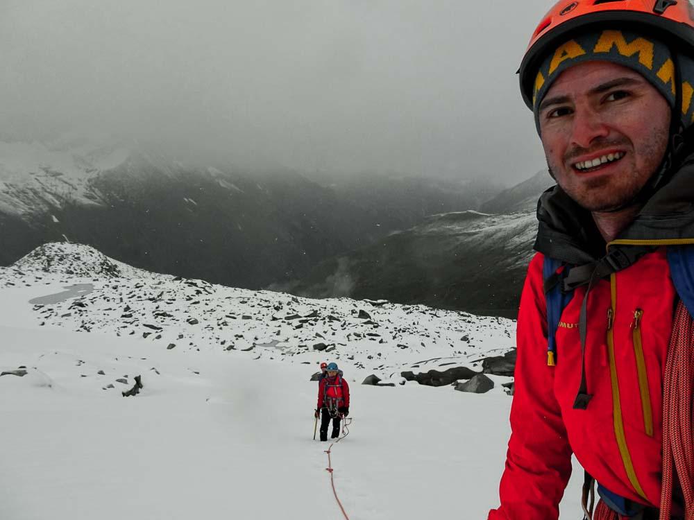 Am Gletscher - Achtung: Spalten!