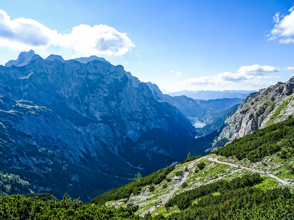 Aufstiegsweg zur Adamekhütte.