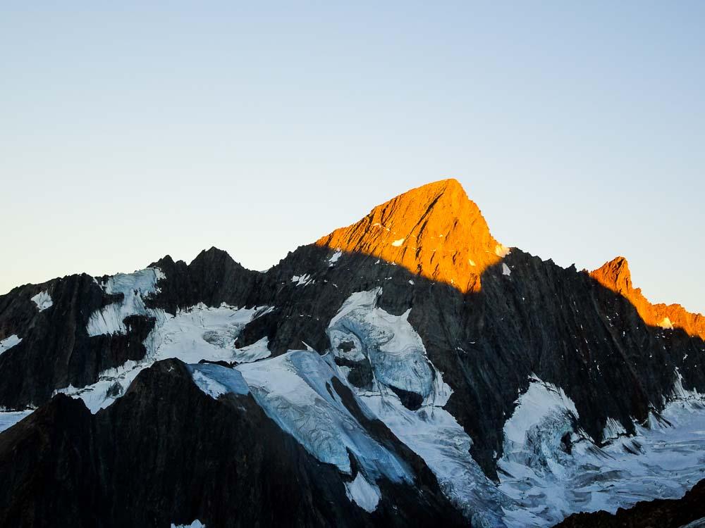 Das Große Grünhorn im ersten Sonnenlicht - beeindruckend!