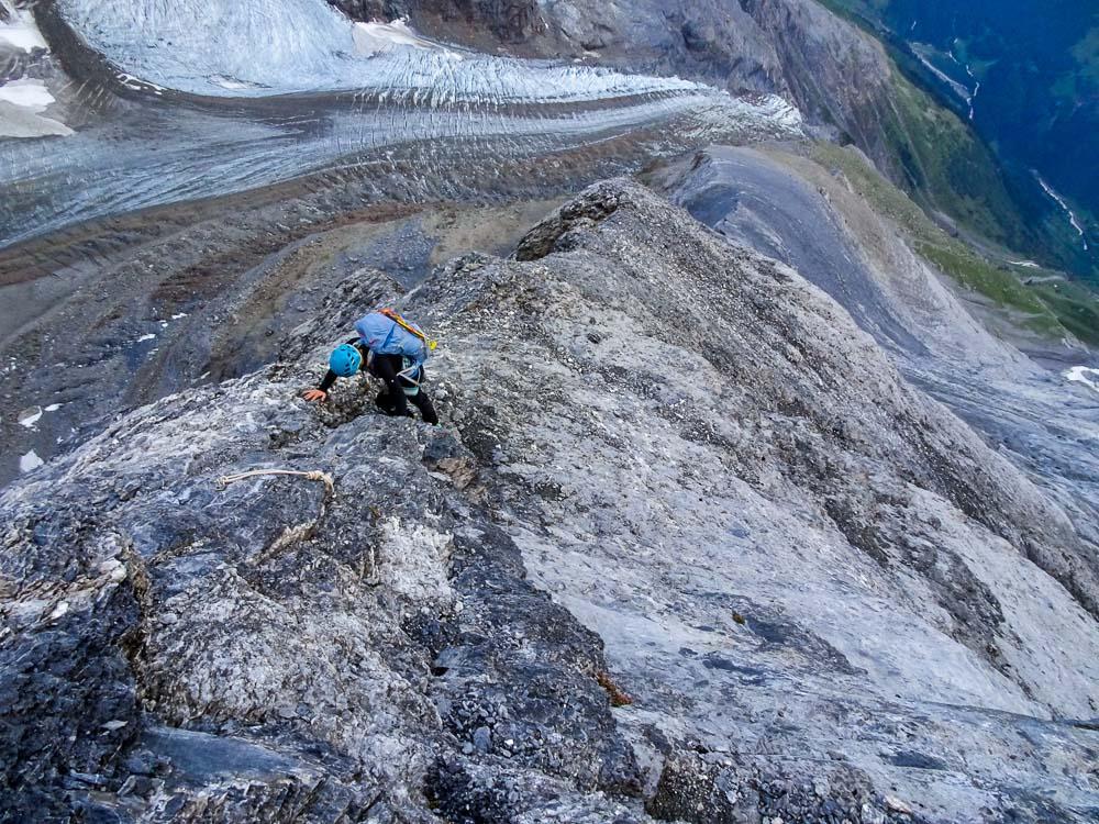 Die Kletterei ist nicht schwierig.