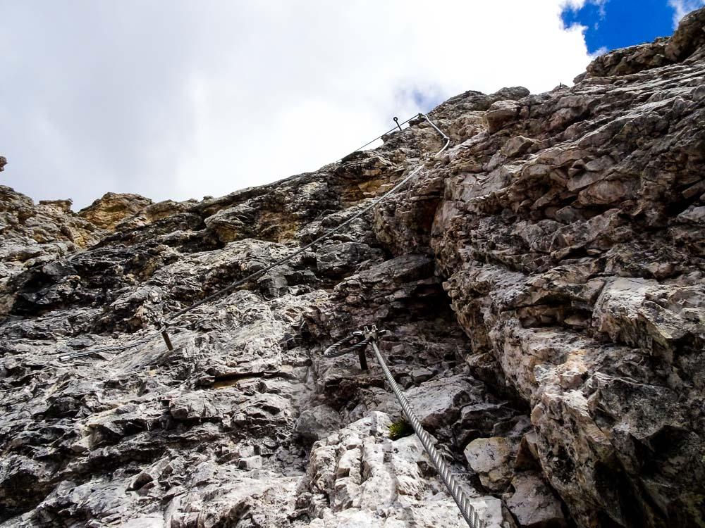 Es geht meistens recht steil, aber gut zu klettern hinauf.