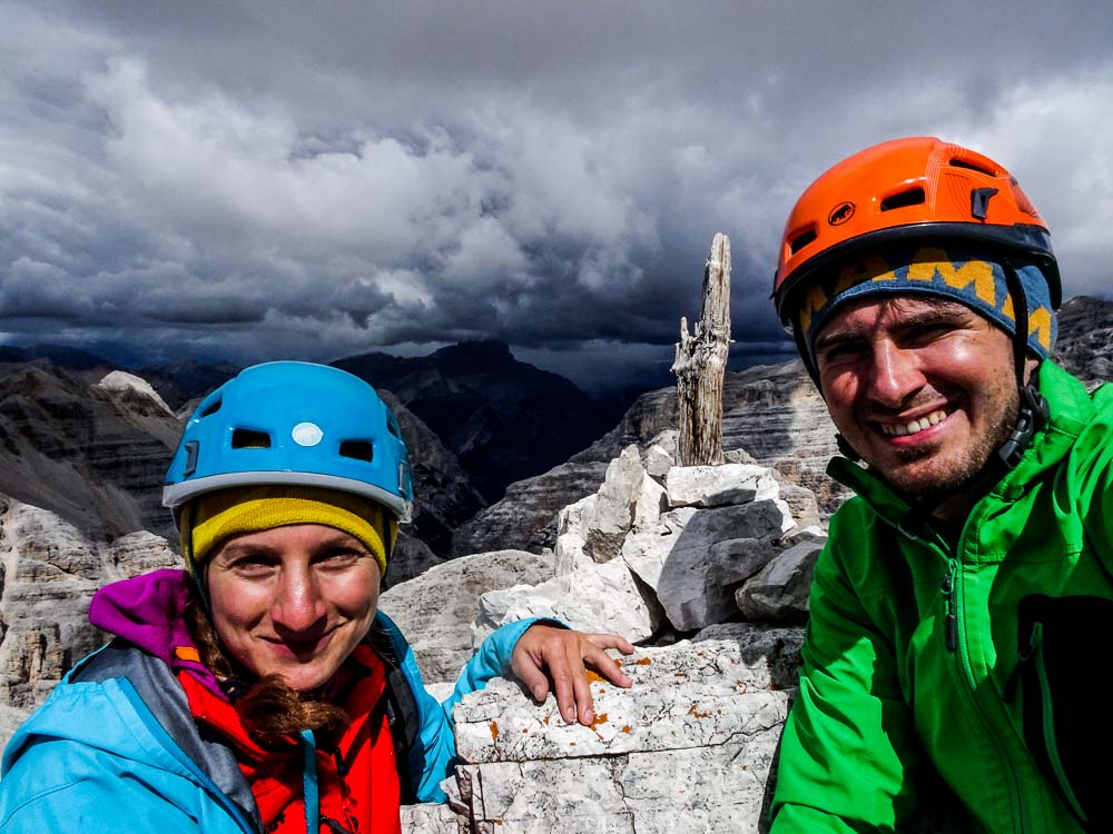 Am Gipfel der südlichen Fanesspitze :)