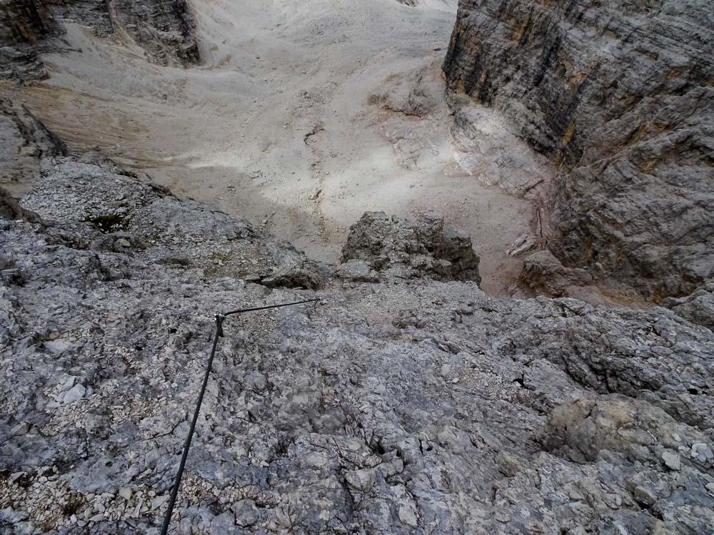 Nun folgt der Abstieg über den C-Klettersteig.