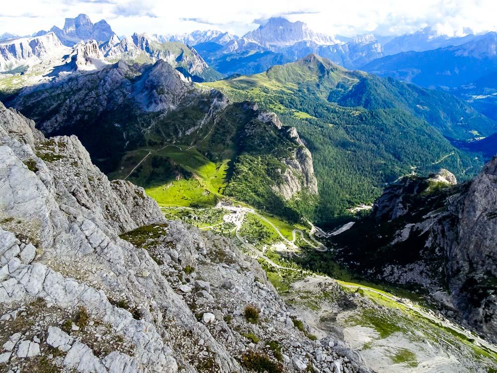 Klettersteig Tomaselli (D) auf die südliche Fanesspitze (Italien)