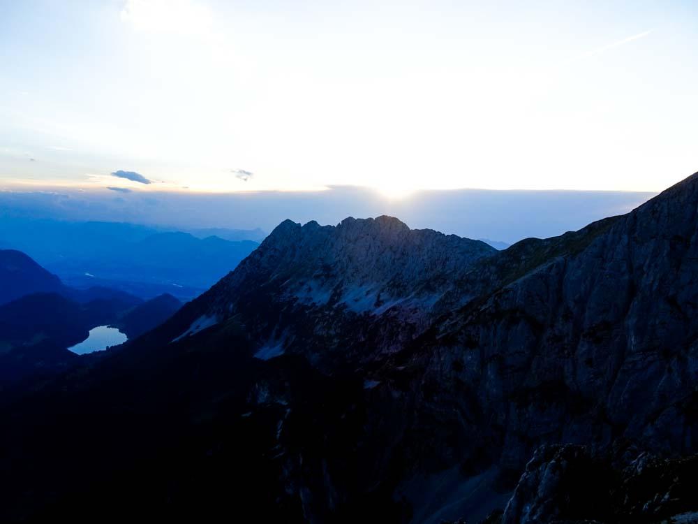 Sonnenuntergangsstimmung am Treffauer