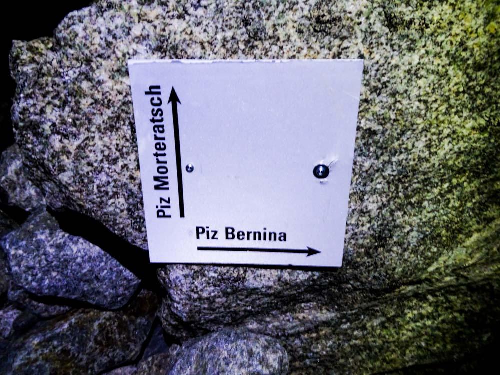 Wir gehen Richtung Piz Bernina