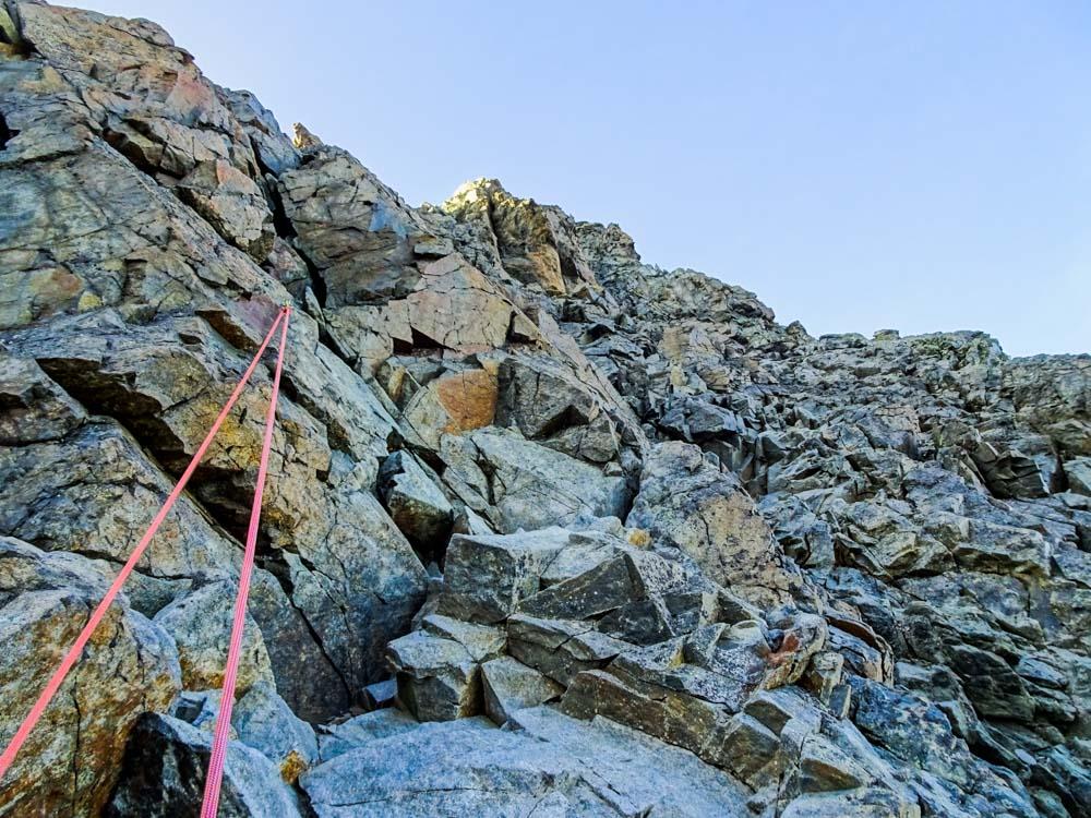 Die Kletterei ist nicht schwierig