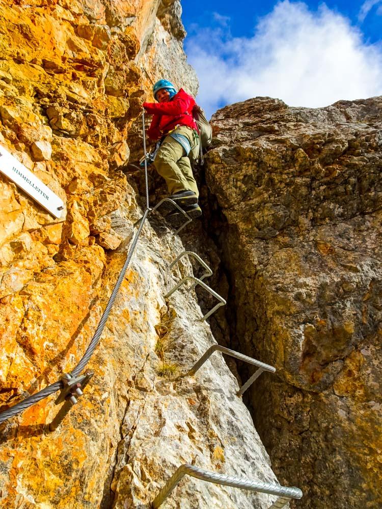 Auf geht's: Klettersteig Leogang Süd mit prachtvollem Herbstwetter