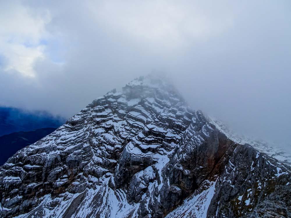 Birnhorn über westliche Mitterspitze und Leoganger Klettersteig (E) und Kuchelhorn im Abstieg (Salzburg/Leoganger Steinberge)